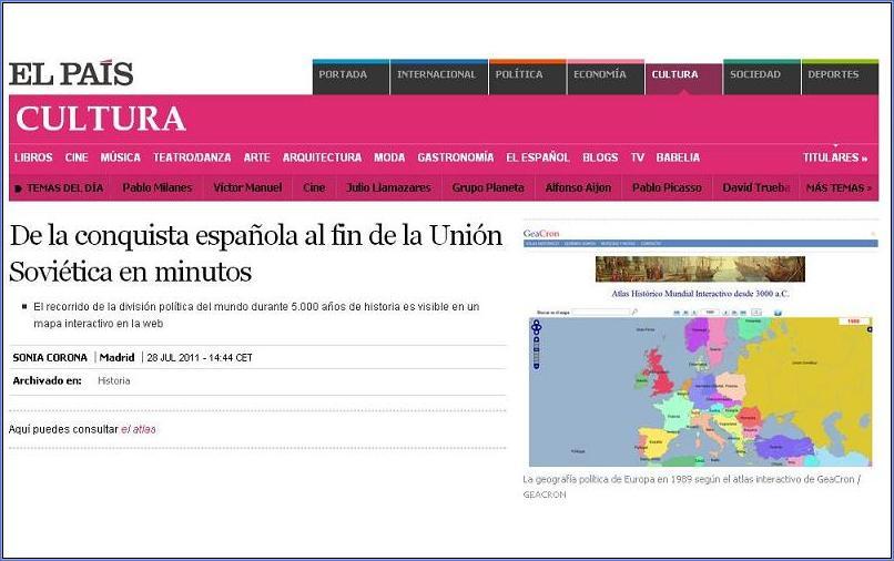 GeaCron in El País